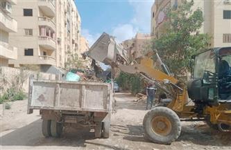 رفع 25 طن مخلفات وأتربة من مناطق وسط الإسكندرية