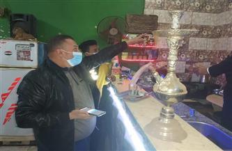 إغلاق 20 مقهى وضبط 549 مخالفة عدم ارتداء كمامة فى حملة أمنية بسوهاج