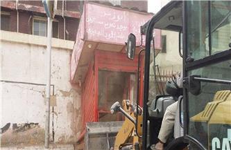 حملة لإزالة الأكشاك المخالفة في حي شرق مدينة نصر