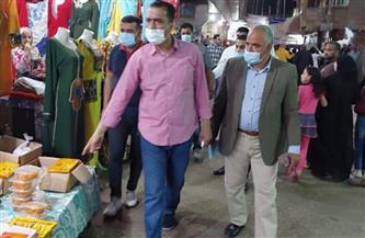 تحرير 11 محضر إشغالات في حملة بمدينة الباجور بالمنوفية   صور