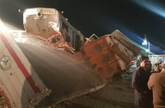محافظة السويس تزيل آثار حادث قطار قرية عامر