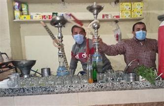 ضبط شيش وتحرير محاضر لمقاه مخالفة بإسنا جنوب الأقصر