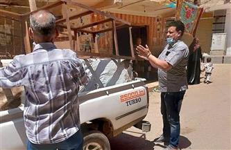 تحرير 8 محاضر إشغالات بمدينة الباجور بالمنوفية   صور