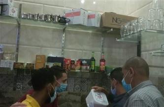 ضبط مخالفات خلال حملة على المطاعم ومنافذ بيع المجمدات بالقصير | صور