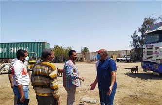 ضواحي بورسعيد تخلي مدخل الحي الإمارتي من الإشغالات والتعديات لإنشاء ميدان | صور