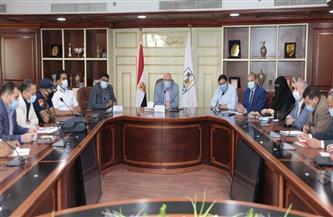 محافظ بني سويف يناقش الموقف التنفيذي لمشروعات الخطة الاستثمارية   صور