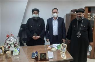 رئيس جهاز الشروق يزور كنيسة العذراء للتهنئة بعيد القيامة المجيد