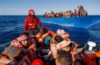 البحرية الليبية تنقذ 172 مهاجرا إفريقيا  قبالة سواحل الزاوية