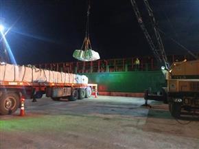 تصدير 4300 طن أسمنت أبيض إلى لبنان عبر ميناء العريش | صور