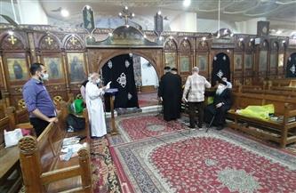 كنائس الفيوم تحتفل بعيد خميس العهد وسط حراسة أمنية ودون حضور شعبي |صور