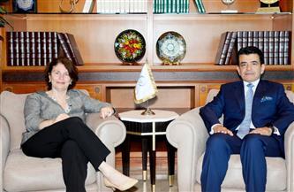 المدير العام للإيسيسكو يستقبل ممثلة يونيسيف بالمغرب   صور