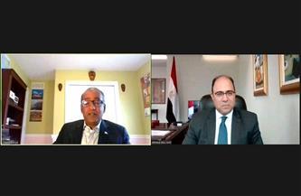السفير أحمد أبو زيد يواصل لقاءاته مع أعضاء البرلمان الكندي حول سد النهضة| صور