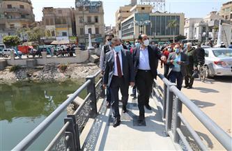 محافظ المنوفية يتفقد أعمال رصف شارع دبي ومتفرعاته وأعمال تطوير كوبري عمر أفندي بشبين الكوم | صور