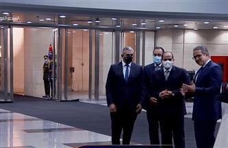 الرئيس السيسي يصل إلى المتحف القومي للحضارة المصرية بالفسطاط