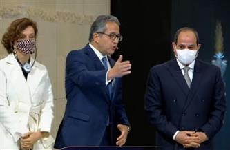 بعد افتتاحه رسميا.. الرئيس السيسي يتفقد متحف الحضارة.. ويستمع لشرح مفصل من وزير الآثار