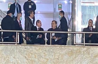 السفير والمستشار هشام إبراهيم يؤازران الزمالك أمام المولودية| صور