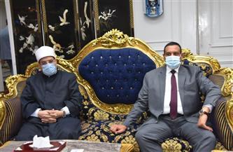 وزير الأوقاف ومفتى الديار يفتتحان مسجد عمر بن الخطاب فى دمنهور بتكلفة 9.5 مليون جنيه|صور