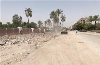 حملة نظافة ورفع للمخلفات بجوار سور جامعة الأزهر في أسيوط| صور