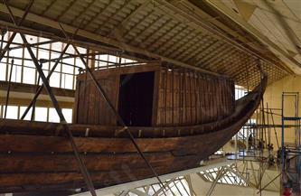 مركب الملك خوفو الأولى تستعد للإبحار إلى المتحف المصري الكبير| صور