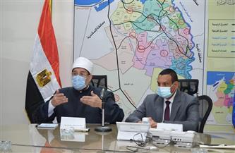 وزير الأوقاف يشدد على الالتزام بالإجراءات الاحترازية ضد انتشار فيروس كورونا  صور