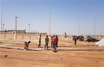 استعدادات وتجهيزات خاصة في الشيخ زايد لوضع حجر أساس استاد الأهلي