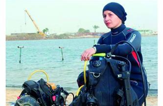 قصة نجاح .. «بسنت كامل» أول مصرية تتخصص في اللحام تحت الماء