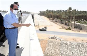 الرئيس السيسي يتوقف في قطاع البدرشين بـ«الدائري الأوسطي» لمتابعة الخطوات التنفيذية لتبطين الترع