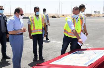 الرئيس السيسي يقوم بجولة تفقدية لبعض قطاعات «الدائري الأوسطي» وسوق السيارات الجديد