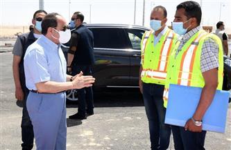 تفاصيل جولة الرئيس السيسي التفقدية لبعض قطاعات الطريق الدائري الأوسطي| فيديو