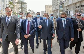 محافظ الإسكندرية يتفقد معدلات تنفيذ مشروع رفع كفاءة طريق مصطفى كامل الرئيسي  صور