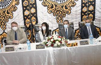 وزيرة التعاون الدولي تتفقد المرحلة الأولى من مشروع الألبان بالغربية