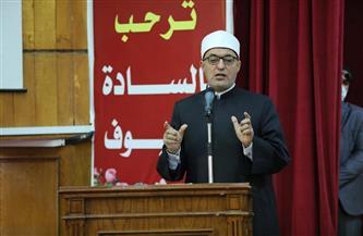 أمين مجمع البحوث الإسلامية في لقاء مفتوح بجامعة الفيوم: موكب المومياوات حدث عالمي فريد | صور