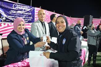 نادي منتخب السويس يُكرّم لاعبات الكرة النسائية لصعودهن لدوري الممتاز