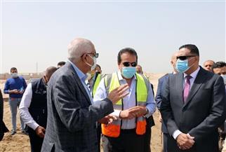 وزير التعليم العالي يتفقد إنشاءات جامعة المنصورة الأهلية بمدينة جمصة | صور