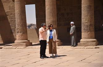 جولة تفقدية لوزير السياحة والآثار ومدير عام منظمة اليونسكو بأسوان| صور