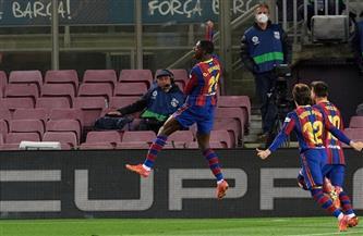 «ديمبلي» يسجل هدف فوز برشلونة القاتل على بلد الوليد ليشعل «الليجا» قبل الكلاسيكو