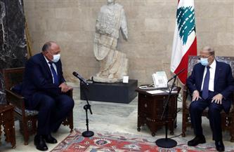 الرئيس اللبنانى يستقبل وزير الخارجية فى مستهل زيارته لبنان| صور