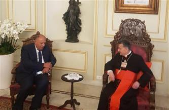 وزير الخارجية يلتقى البطريرك الماروني فى لبنان