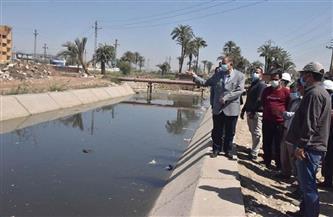 محافظ أسيوط يتفقد أعمال تبطين بعض الترع بقرية بني غالب  صور