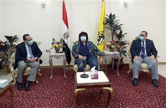 محافظ شمال سيناء يستقبل وزيرة الثقافة| صور