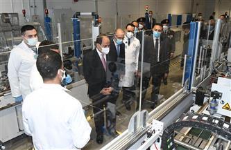 الرئيس السيسي يتفقد منشآت مجمع الإصدارات المؤمنة والذكية وخطوط الإنتاج المختلفة
