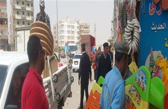 حملة موسعة لإزالة الإشغالات والتعديات بحي عتاقة بالسويس
