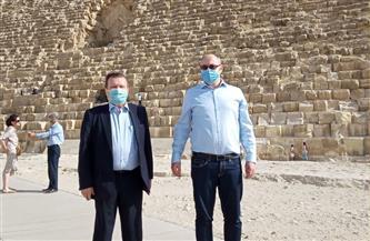 منطقة آثار الهرم تستقبل نائب وزير الخارجية الأوكراني| صور