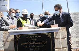 وزير التنمية المحلية يضع حجر أساس إنشاء فندق في طنطا | صور