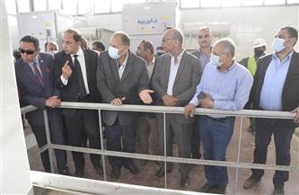 محافظ أسيوط يتفقد أعمال إنشاء محطة صرف صحي المحمودية بمركز ديروط | صور