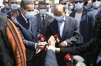 وزير التنمية المحلية يفتتح مشروع تطوير ميدان المحطة بطنطا | صور