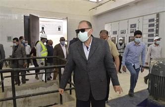 """محافظ أسيوط يتفقد سير العمل بمحطة """"الحما"""" في منفلوط لبدء تشغيل """"الصرف الصحي المتكامل""""  صور"""