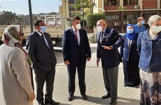 رئيس جامعة عين شمس يتفقد كلية الآداب |صور