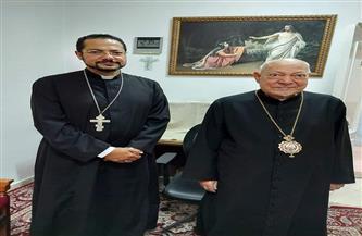 البطريرك الشرفي للكنيسة القبطية الكاثوليكية بمصر يستقبل الأنبا باخوم