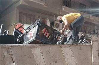 """حي الدقي يصادر 76 """"شيشة"""" ويحرر 9 محاضر في حملة ليلية على المقاهي والكافيهات  صور"""